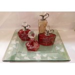 CRYSTAL MINIATURE BOTTLE-RED 43NΑ-R CRYSTAL ITEMS