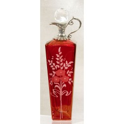 CRYSTAL BOTTLE  132-ELLA RED